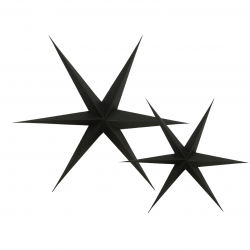Etoiles noires décoratives