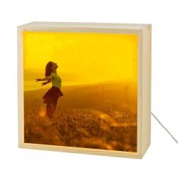 Boîte à lumière photo personnalisée - 25 cm