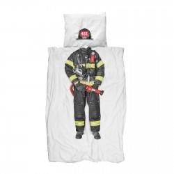 Parrure de lit - pompier