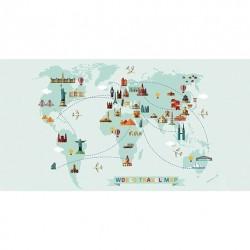 Tapis vinyle Carte du Monde