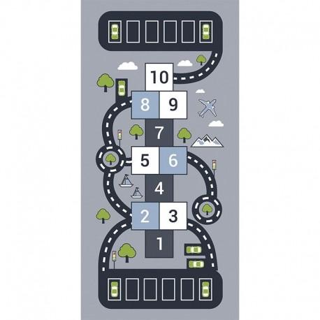 Tapis vinyle Marelle circuit auto