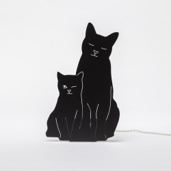 Lampe double fonction - Chats noirs