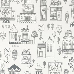 Papier peint - Mini ville