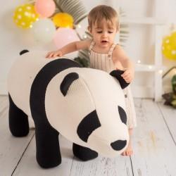 Pouf enfant Amigurumi - Panda
