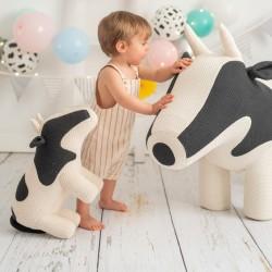 Pouf enfant Amigurumi - Vache