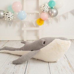 Pouf enfant Amigurumi - Baleine