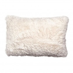 Coussin fausse fourrure - Neige