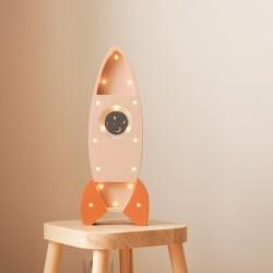 Lampe enfant en bois - Fusée