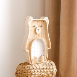 Lampe enfant en bois - Ours
