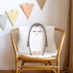 Lampe enfant en bois - Pingouin