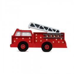 Lampe enfant en bois - Pompier