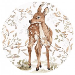 Sticker mural rond - Bambi
