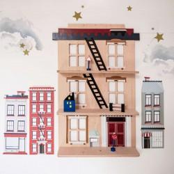 Etagère en bois - Immeuble New York