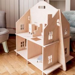 Maison de poupée en bois démontable