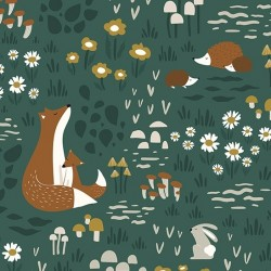 Papier peint enfant - Animaux de la forêt