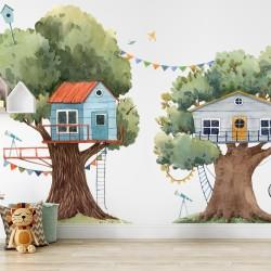 Panoramique mural - La maison dans l'arbre
