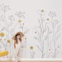Papier-peint panoramique - Fleurs sauvages
