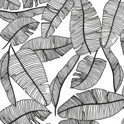 Papier peint intissé - Feuilles XXL N&B