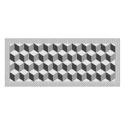 Tapis vinyle - Carreaux Ciment Perspective