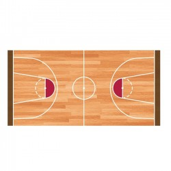 Tapis vinyle Terrain de basket