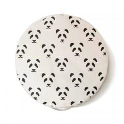 Pouf enfant panda rond