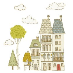 Sticker mural XXL - Ma ville 1