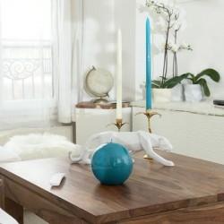 Bougie ronde XL - Laquée Bleue
