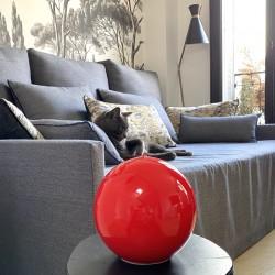 Bougie ronde XL - Laquée Rouge