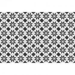 Tapis carreaux de ciment - Etoile noire