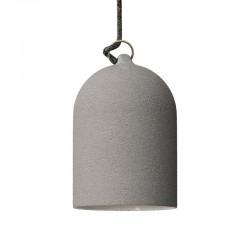 Suspension cloche en céramique - Effet ciment