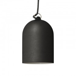 Suspension cloche en céramique - Tableau noir