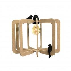 Suspension en bois - Cage à oiseaux