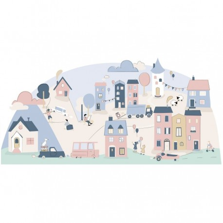 Sticker mural - Mon village Rose