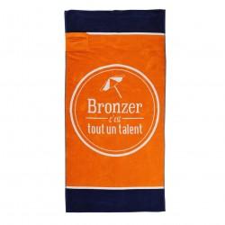 Serviette de plage XL avec poche - Bronzer