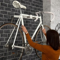 Etagère et support vélo mural - Blanc