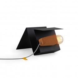 Lampe liège et son support noir