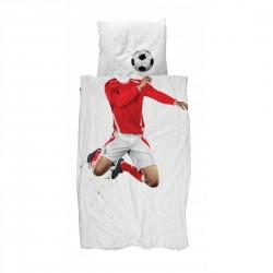 Parrure de lit 140 x 200 - Football Maillot rouge