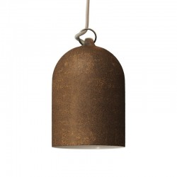 Suspension cloche en céramique - Effet corten