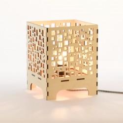 Lampe à poser en bois - Cubic