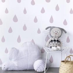 Papier peint blanc et rose