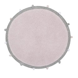 Tapis rond Bubbly Rose