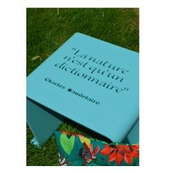 Tabouret de jardin personnalisé - Charles Baudelaire