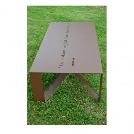 Table de jardin personnalisée - Aristote
