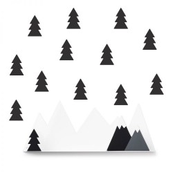 étagère montagne gris foncé