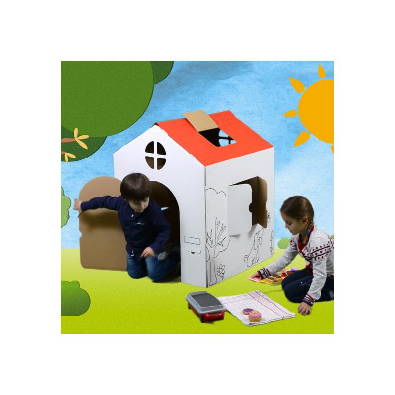 Maison en carton colorier - Cabane en carton a colorier ...