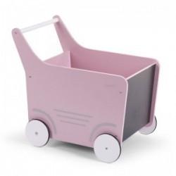 Chariot à jouets rose