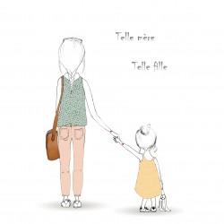 """Cadre maison """"Telle mère , Telle fille"""""""