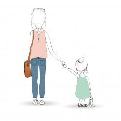 Affiche A4 mère et fille