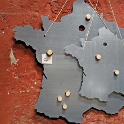 Tableau carte de France