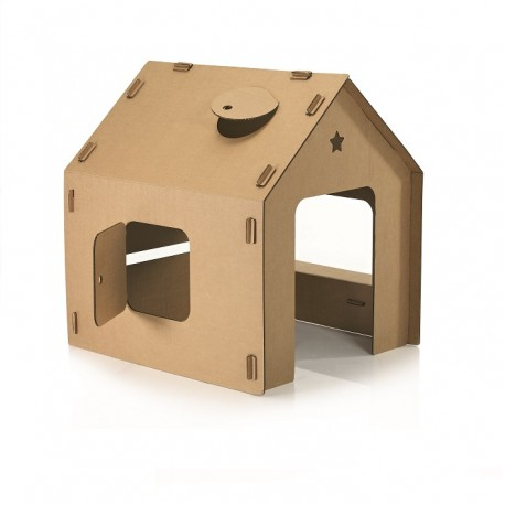 Maison en carton - Cabane en carton a colorier ...